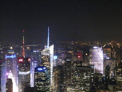 du haut de l'Empire State Building New York