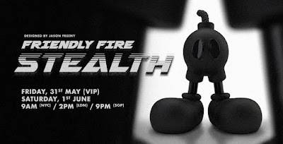 Friendly Fire Stealth Edition Resin Figure by Jason Freeny x Mighty Jaxx