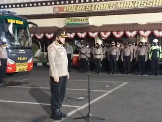 Polda Sulsel Gelar Apel Kesiapan Patroli Skala Besar Di Wilayah Makassar