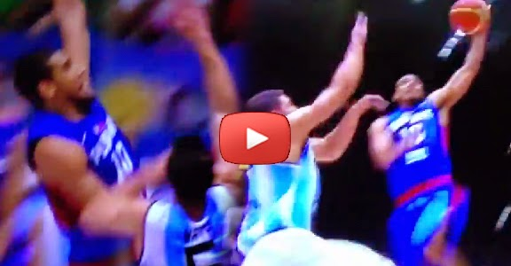 Gabe Norwood POSTERIZES Argentina's Marcos Mata (VIDEO)