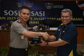Sosialisasi PT ASABRI, Kapolda Jambi Ingatkan Personel yang Mendekati Pensiun Untuk Siapkan Kelengkapan Administrasi.