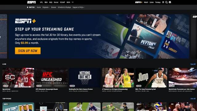 ESPN-Sport-streaming-site
