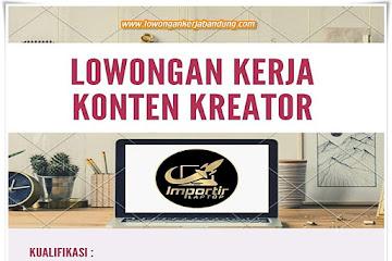 Lowongan Kerja Konten Kreator Importir Laptop