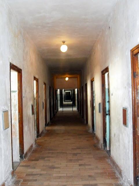 pasillos, campo de concentración de Dachau