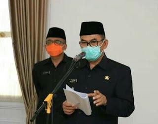 Pemkab Sukabumi Lakukan Pelantikan Sesuai Protokol Kesehatan Setelah Izin Mendagri Keluar
