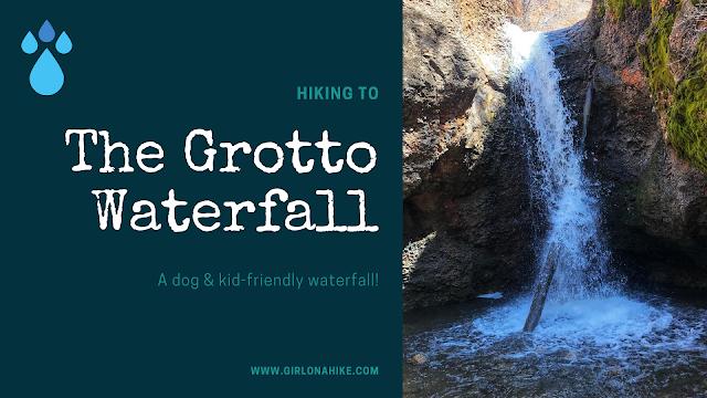 The Grotto Trail & Waterfall, Nebo Scenic Loop Road trails, Waterfalls in Utah
