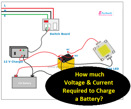 Current and Voltage required to charge battery