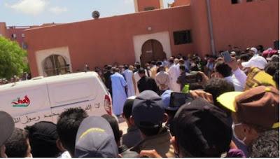 بحضور  والي كلميم وشخصيات سياسية يؤدون صلاة الجنازة على الراحل عبد الوهاب بلفقيه