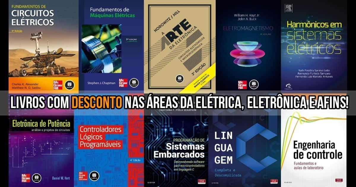 Livros de elétrica, eletrônica e afins com desconto