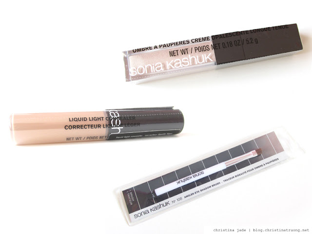 Farewell Target Canada Haul Sonia Kashuk Core Tools Angled Eye Shadow Brush No. 108. Sonia Kashuk Liquid Light Concealer. Sonia Kashuk Pearlescence Long Wear Creme Shadow