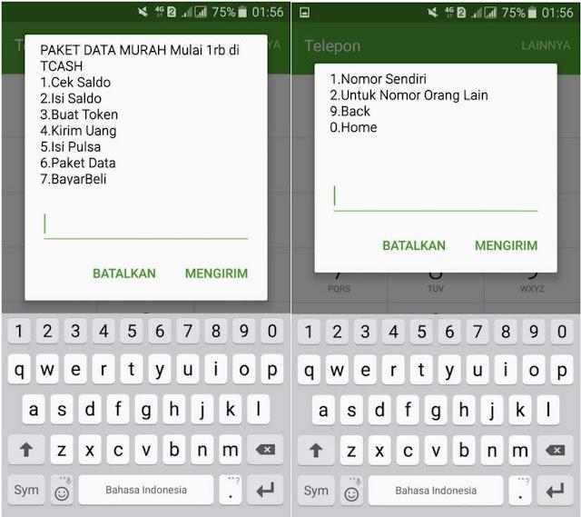Cara Membeli Kuota Telkomsel Dengan Saldo Bonus TCASH