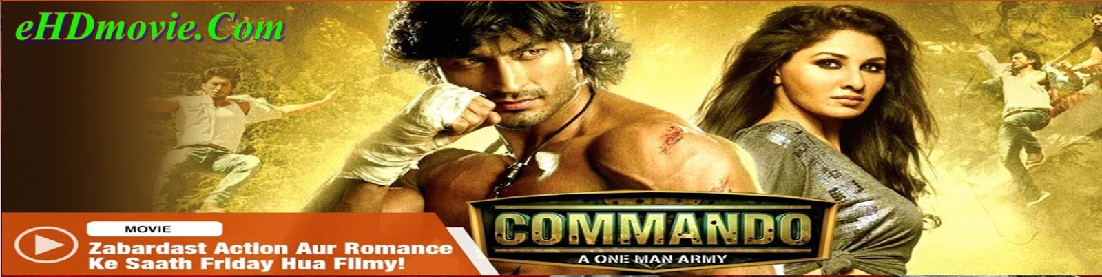 Commando 2013 Full Movie Hindi 720p - 480p ORG BRRip 400MB - 900MB ESubs Free Download