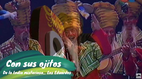 """Pasodoble con LETRA """"Con sus ojitos"""". Chirigota """"De la India misteriosa…Los Eduardos"""" por el 'Trío Manolín Gálvez'"""