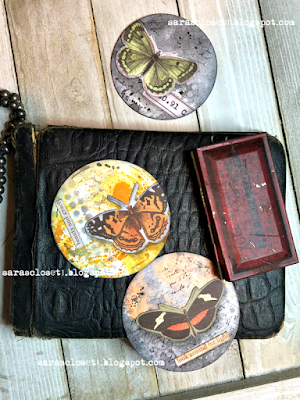 Sara Emily Barker https://sarascloset1.blogspot.com/2020/06/my-butterfly-collection.html Mixed Media AT Coins 1