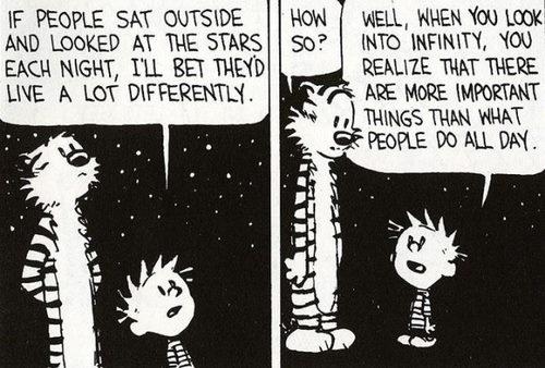 guardare l'infinito