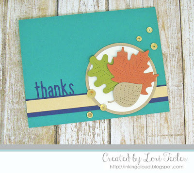 Fall Thanks card-designed by Lori Tecler/Inking Aloud-dies from Lawn Fawn