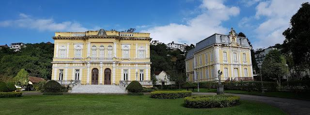 Palácio Rio Negro e o seu anexo, onde funciona o museu da FEB, Petrópolis, Rio de Janeiro