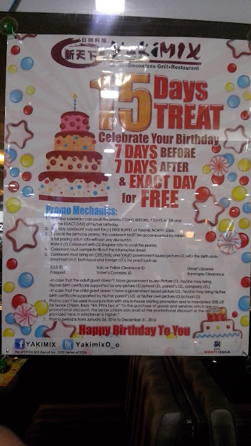 yakimix, birthday promo,