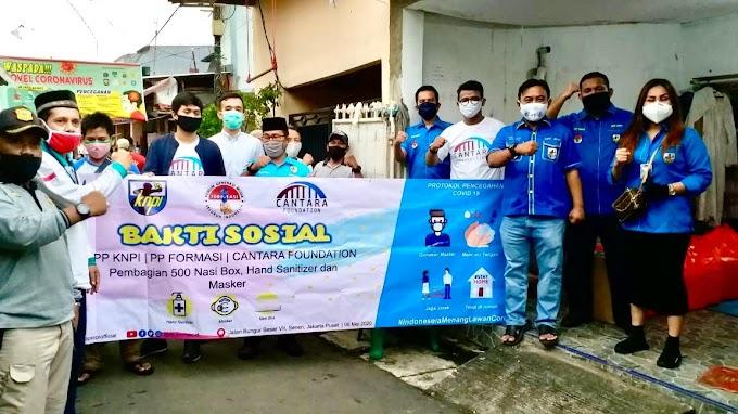 DPP KNPI, PP FORMASI dan CANTARA FOUNDATION Bagikan 500 Nasi Box