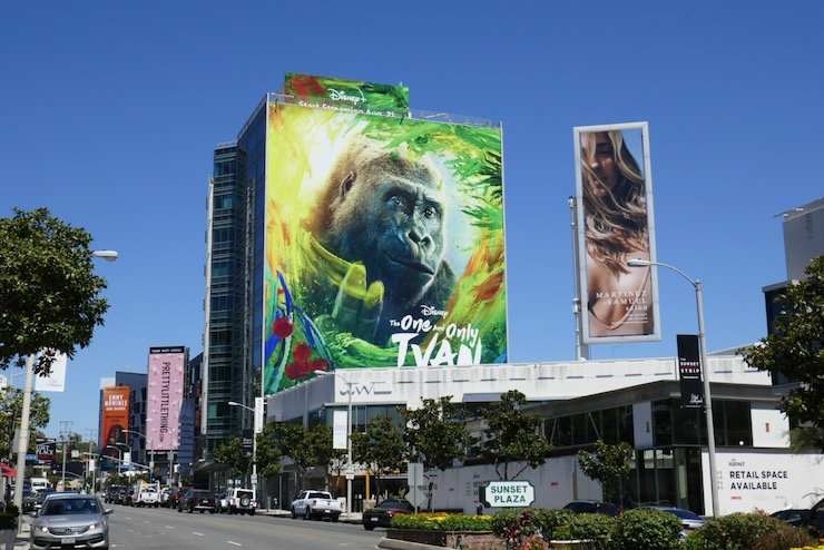 One and Only Ivan giant film billboard