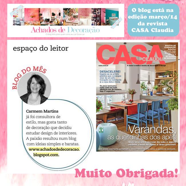 O Blog na Revista Casa Claudia blog Achados de Decoração