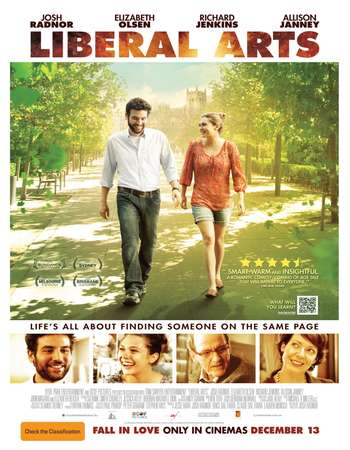 Poster Of Liberal Arts 2012 English 300MB BRRip 480p ESubs Free Download Watch Online Worldfree4u
