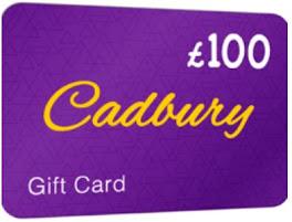Cadbury £100 Gift Card (For UK)