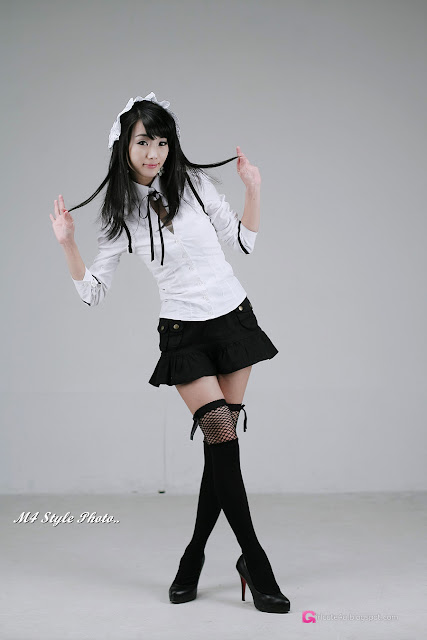 3 Im Soo-Yeon – Black and White - very cute asian girl-girlcute4u.blogspot.com