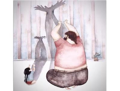 pai e filha sombra na parede-Snezhana-Soosh_Eliseu-Antonio-Gomes_Belverede