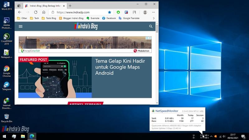 Cara Menampilkan Kecepatan Internet di Windows 10