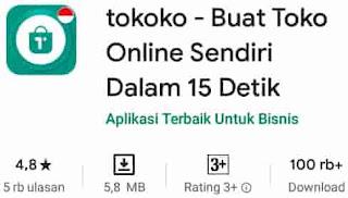 aplikasi bisnis online tokoko