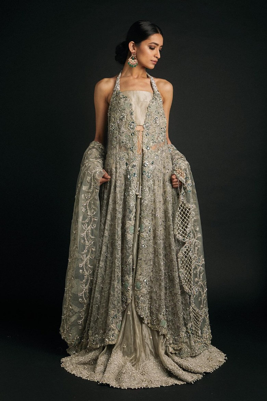Zara Shahjahan Bridal Gown with Short Blouse for Modern Pakistani Women & Girls