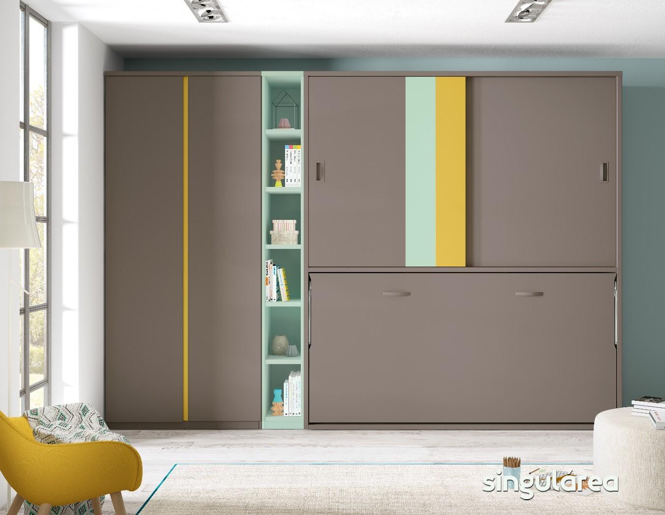 Juvenil abatible 2138 - Habitaciones juveniles camas abatibles horizontales ...