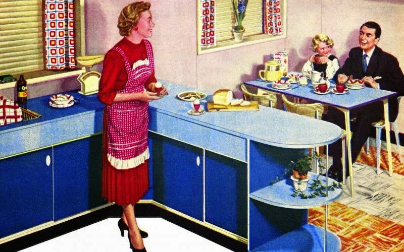 Baby Blue Kitchen Retro
