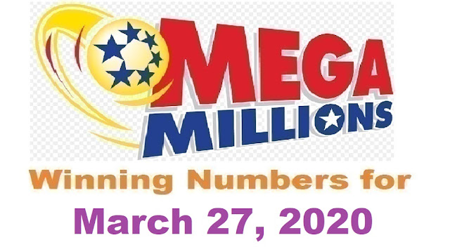 Mega Millions Winning Numbers for Friday, March 27, 2020