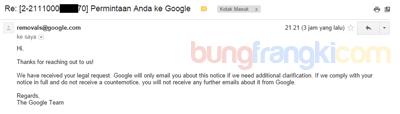 Cara Melaporkan Blog Copas (copy paste) ke Google DMCA