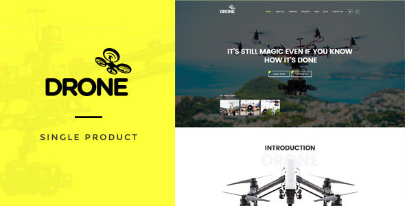 Single Product WordPress Theme Free Download Drone v1.10 – Single Product WordPress Theme Download
