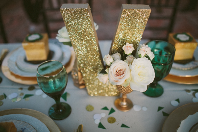 Abby Mitchell Event Planning and Design Color Palette Emerald Green and Gold