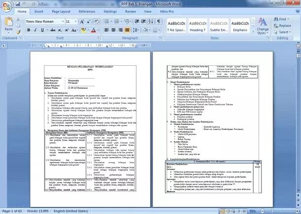 RPP Matematika SMP Kelas 7 8 9 Kurikulum 2013 Revisi Terbaru