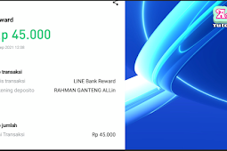 Line Bank Indonesia Promo Klik Share Dapet 45 Ribu Langsung