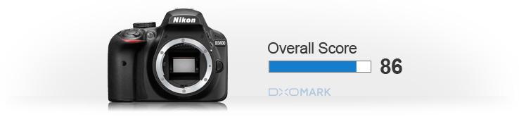 Сенсор Nikon D3400 набрал 86 баллов в тестах DxOMark