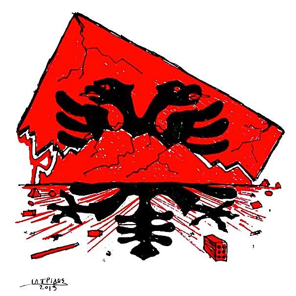 Καταπλακώθηκε από τον σεισμό ο Αλβανικός αετός
