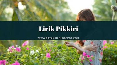 Lirik Pikkiri - Permata Trio
