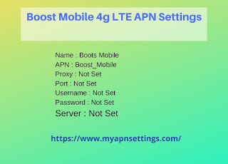 Boost Mobile 4g LTE APN Settings for Android