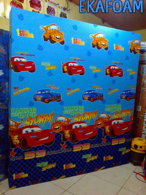 kasur inoac motif the car biru