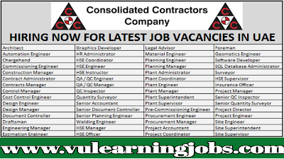 CCC Jobs | Consolidated Contractors Company | Jobs In Middle