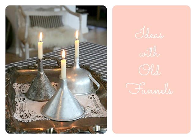 świecznik z lejków