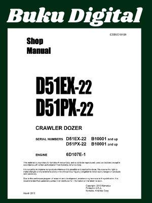 Shop manual komatsu d51ex-22 d51px-22 Dozer