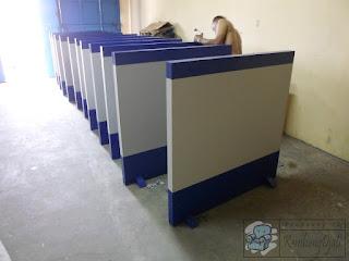 Sekat Partisi Ruang Kantor Multiplek HPL - Furniture Semarang