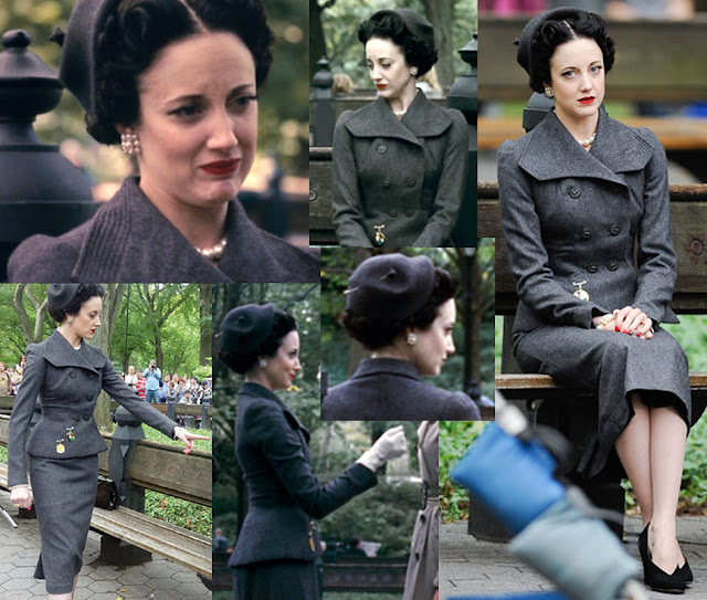 Fabulous Film Fashions W.E.  - Wallis - Grey Wool Suit - Schiaparell